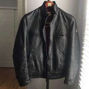 Hugo Boss Orange Leather Jacket